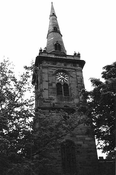 Steeple of Prescot Parish Church