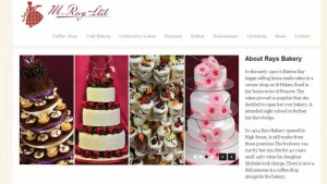 Snapshot of Rays Bakery (Prescot) website, www.mrays.com