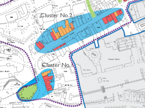 Prescot_town_centre_conservation_area_priority_clusters_map