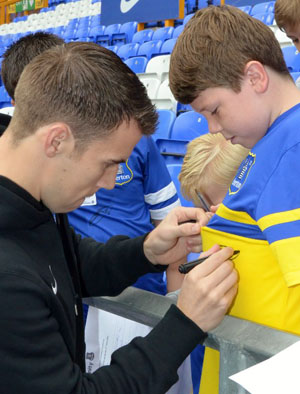 James Greenop with Seamus Coleman